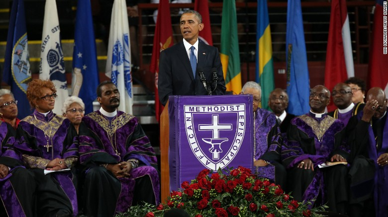 President Obama Takes America To Church With Emotionally-Charged Pinckney Eulogy